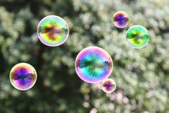 Burbujas del arco iris Imágenes de archivo libres de regalías