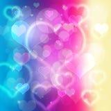 Burbujas del corazón Foto de archivo