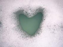 Burbujas del corazón Imagen de archivo libre de regalías