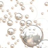 burbujas del cromo 3D Fotografía de archivo libre de regalías