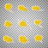 Burbujas del discurso Imágenes de archivo libres de regalías