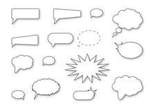 Burbujas del discurso Fotografía de archivo