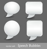 Burbujas del discurso Imagen de archivo libre de regalías