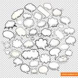 Burbujas del discurso aisladas en vector transparente del fondo stock de ilustración