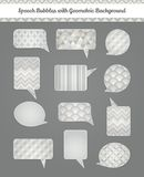 Burbujas del discurso con el fondo geométrico del Grunge Imagen de archivo libre de regalías