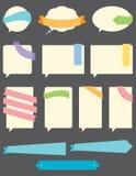 Burbujas del discurso con las cintas Imagen de archivo libre de regalías