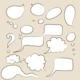 Burbujas del discurso de la historieta Fotografía de archivo libre de regalías