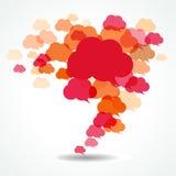 Burbujas del discurso de la nube Fotografía de archivo libre de regalías