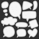 Burbujas del discurso de la tiza del vintage Diversos tamaños y formas Fotos de archivo