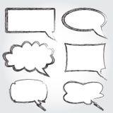 Burbujas del discurso de la vendimia Imagen de archivo