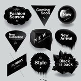 ¿? Burbujas del discurso de la venta de la moda fijadas Imagen de archivo libre de regalías