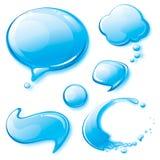 Burbujas del discurso del agua ilustración del vector