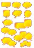 Burbujas del discurso del diálogo ilustración del vector