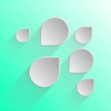 Burbujas del discurso del diseño en fondo verde claro Imagen de archivo libre de regalías