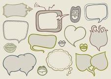 Burbujas del discurso del Doodle Foto de archivo libre de regalías