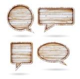 Burbujas del discurso del fondo de madera de la textura Foto de archivo libre de regalías