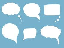 Burbujas del discurso del garabato Fotos de archivo