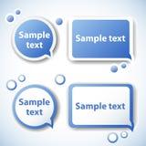 Burbujas del discurso del vector Imagenes de archivo
