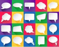 20 burbujas del discurso del vector Imágenes de archivo libres de regalías
