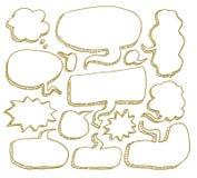 Burbujas del discurso, ejemplo del vector Imagen de archivo