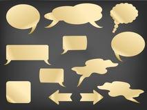 Burbujas del discurso en la pizarra Imagen de archivo libre de regalías