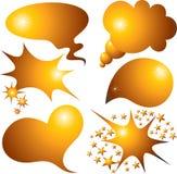 Burbujas del discurso fijadas Imagen de archivo