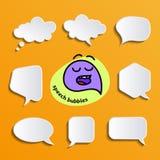 Burbujas del discurso fijadas libre illustration