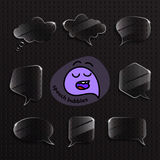 Burbujas del discurso fijadas Imagen de archivo libre de regalías