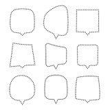 Burbujas del discurso o del pensamiento de diversos formas y tamaños Globos creativos de la charla fijados ilustración del vector