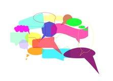 Burbujas del discurso, vector Imagenes de archivo