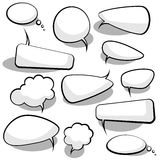 Burbujas del discurso y del pensamiento Fotos de archivo libres de regalías