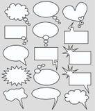 Burbujas del discurso y del pensamiento Imágenes de archivo libres de regalías