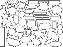 Burbujas del discurso y del pensamiento Foto de archivo libre de regalías