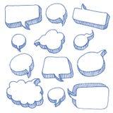 Burbujas del discurso y del pensamiento Foto de archivo