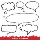 Burbujas del discurso y del pensamiento del garabato Imagen de archivo libre de regalías