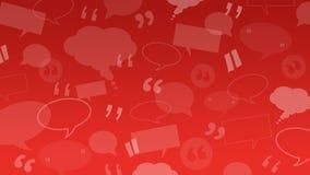 Burbujas del discurso y del pensamiento con las marcas de la cita convenientes como ejemplo del fondo para los certificados del c ilustración del vector