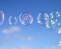 Burbujas del email imagenes de archivo