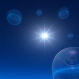 Burbujas del espacio - estrella de la noche Imagen de archivo libre de regalías