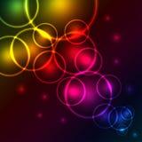 Burbujas del espectro que brillan intensamente Imágenes de archivo libres de regalías