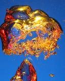 Burbujas del oro Imagen de archivo