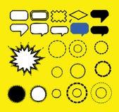 Burbujas del Reclamo-Discurso   Imagenes de archivo