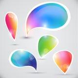 Burbujas del vector para los mensajes libre illustration