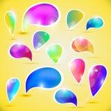 Burbujas del vector para los mensajes Imagenes de archivo