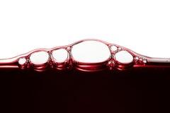 Burbujas del vino imagen de archivo libre de regalías
