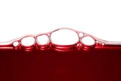 Burbujas del vino fotografía de archivo