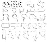 Burbujas dibujadas mano fijadas Fotos de archivo libres de regalías