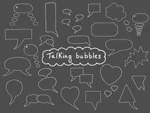 Burbujas dibujadas mano fijadas Imágenes de archivo libres de regalías