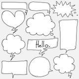 Burbujas dibujadas mano fijadas libre illustration