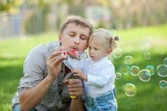 Burbujas divertidas Imágenes de archivo libres de regalías