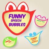 Burbujas divertidas del discurso Imagen de archivo libre de regalías